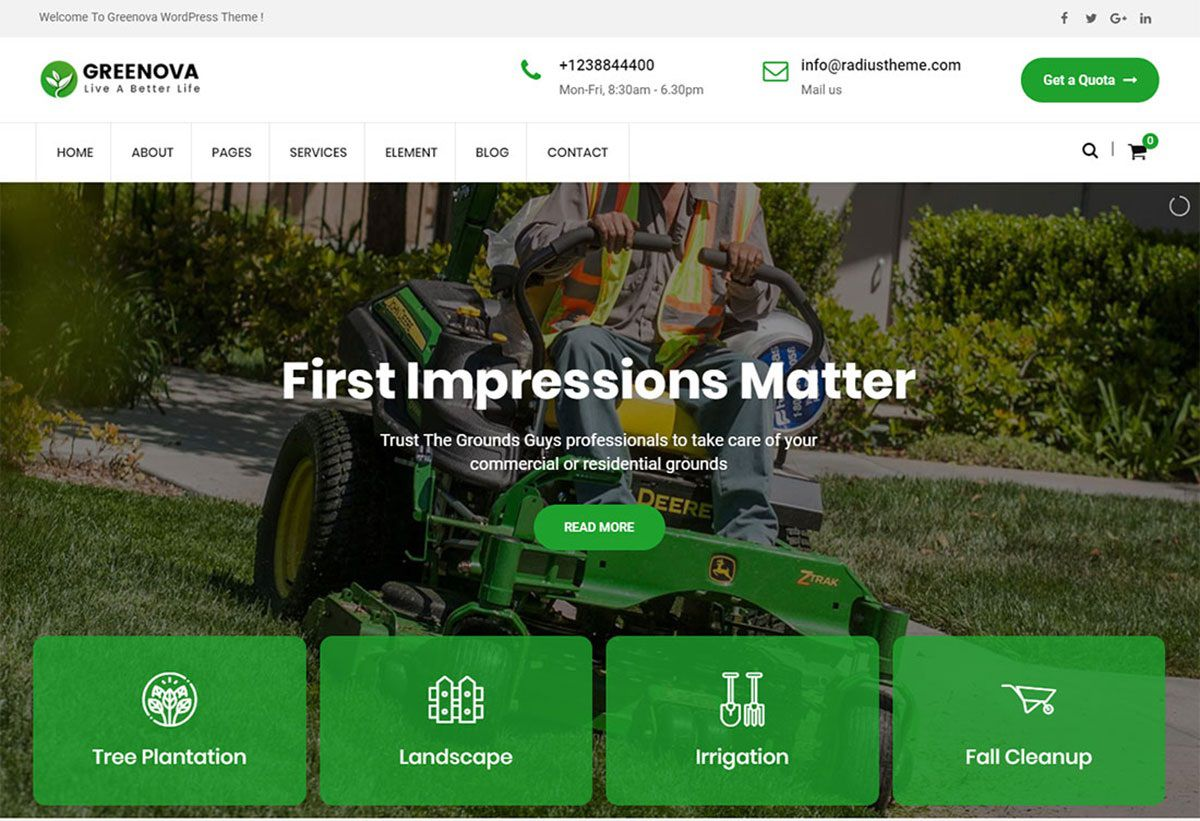 005 Remarkable Lawn Care Website Template Image Full