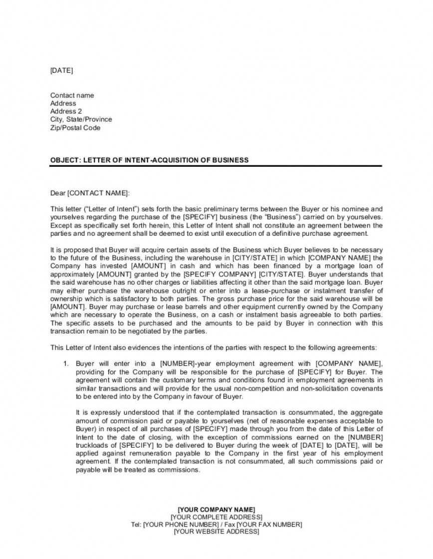 Letter Of Intent Example Job from www.addictionary.org