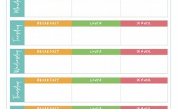 005 Remarkable Meal Plan Template Pdf Inspiration  Printable Diabetic Sample Weekly Planning Worksheet