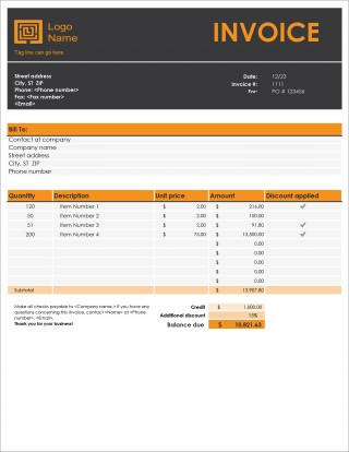 005 Remarkable Microsoft Excel Invoice Template Free Design  Service Download320