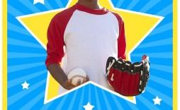 005 Remarkable Photoshop Baseball Magazine Cover Template Design