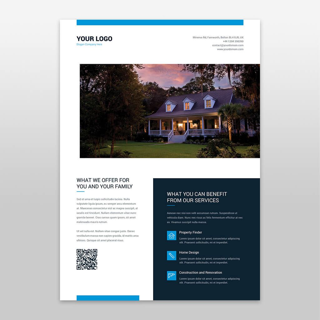005 Remarkable Real Estate Flyer Template Free Example  Publisher Commercial Pdf DownloadFull