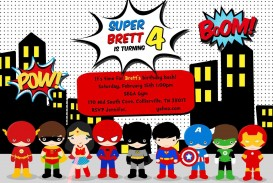 005 Remarkable Superhero Invitation Template Free Highest Clarity  Birthday Party