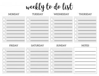 005 Remarkable To Do Checklist Template Idea 320
