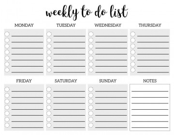 005 Remarkable To Do Checklist Template Idea 360