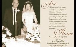 005 Sensational 50th Wedding Anniversary Invitation Template Concept  Templates Card Sample Golden