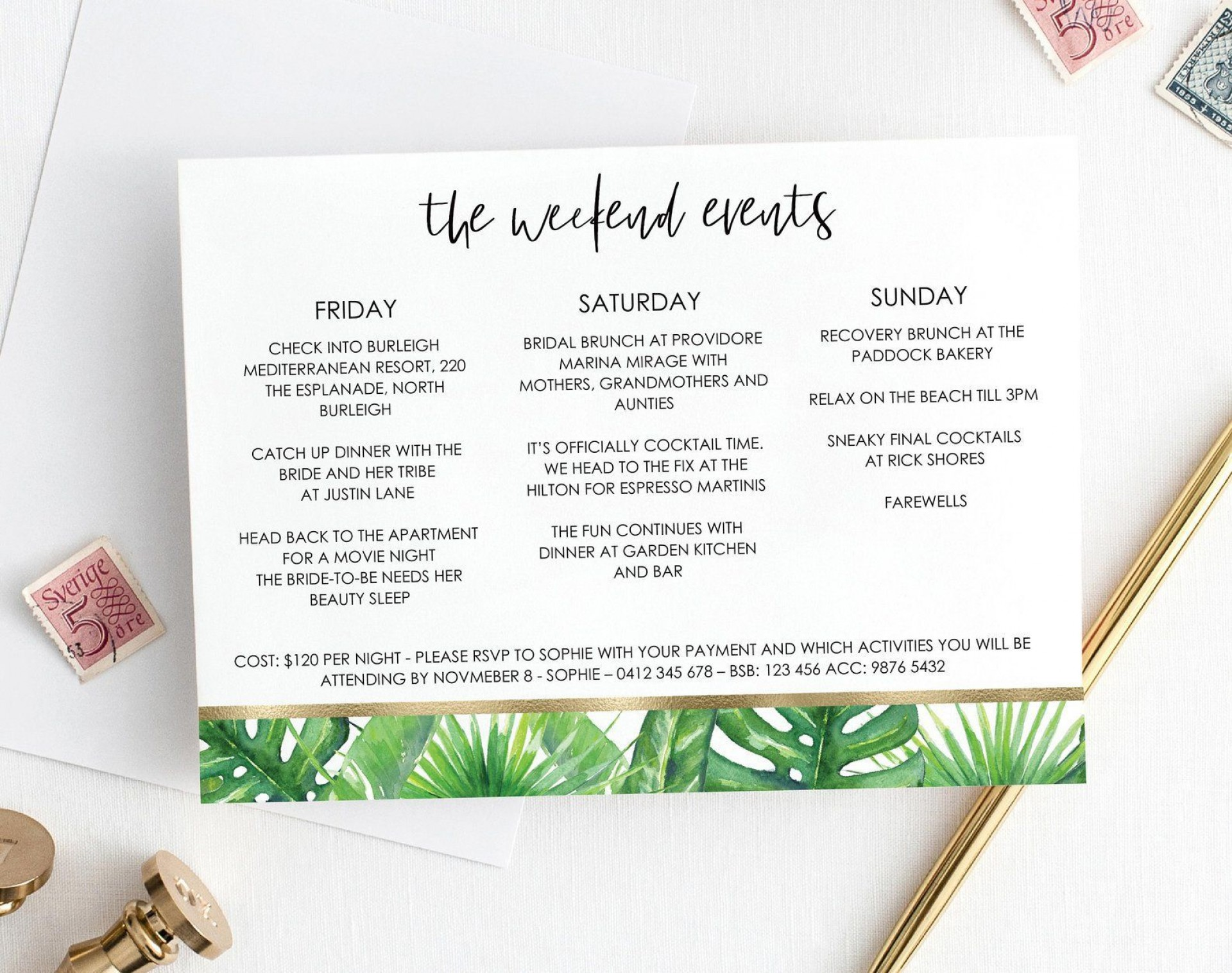 005 Sensational Bachelorette Party Itinerary Template Free Sample  Download1920