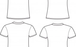 005 Sensational Blank Tee Shirt Template Photo  T Design Pdf Free T-shirt Front And Back Download