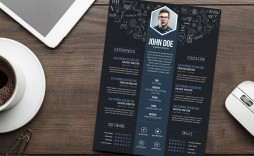 005 Sensational Cv Design Photoshop Template Free Sample  Creative Resume Psd Download