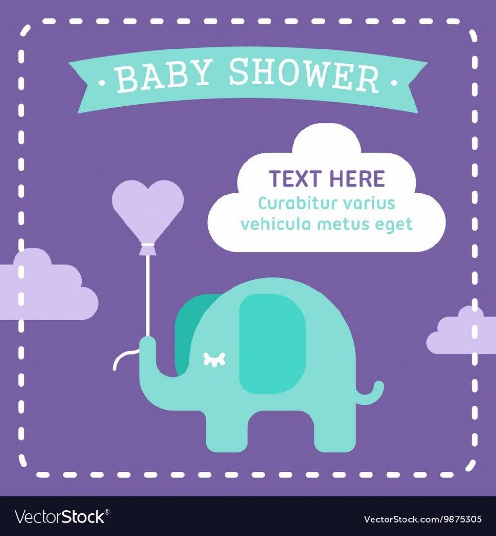 005 Sensational Elephant Baby Shower Invitation Template Concept  Templates Free Pdf BoyLarge