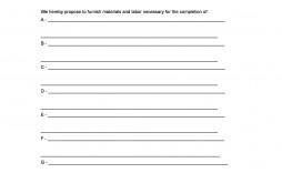 005 Sensational Free Bid Proposal Template Example  Printable Form Word Construction Download
