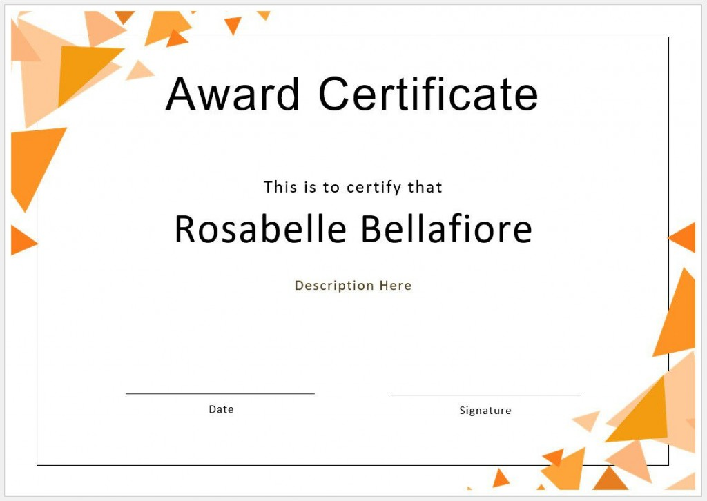 005 Sensational Free Blank Certificate Template Image  Templates Downloadable Printable And Award Gift For WordLarge