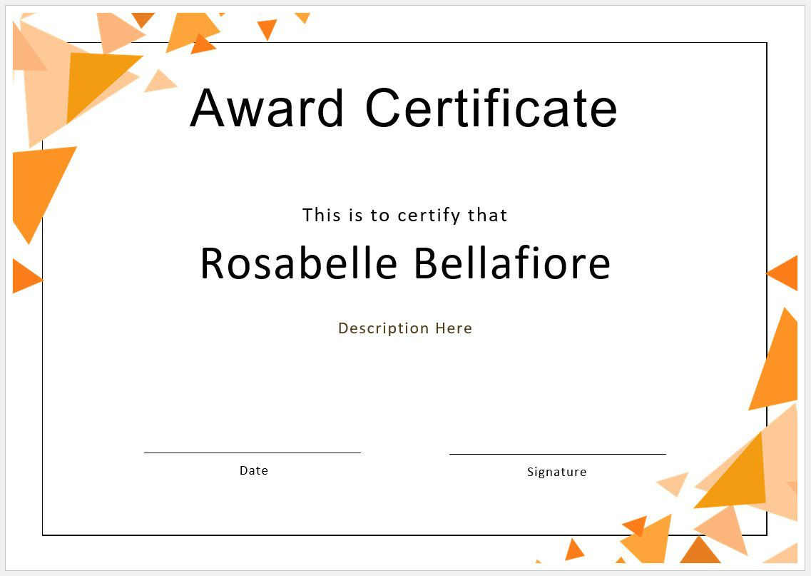 005 Sensational Free Blank Certificate Template Image  Templates Downloadable Printable And Award Gift For WordFull
