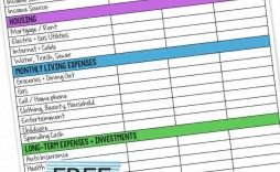 005 Sensational Free Monthly Budget Worksheet Printable Design  Template Family Blank