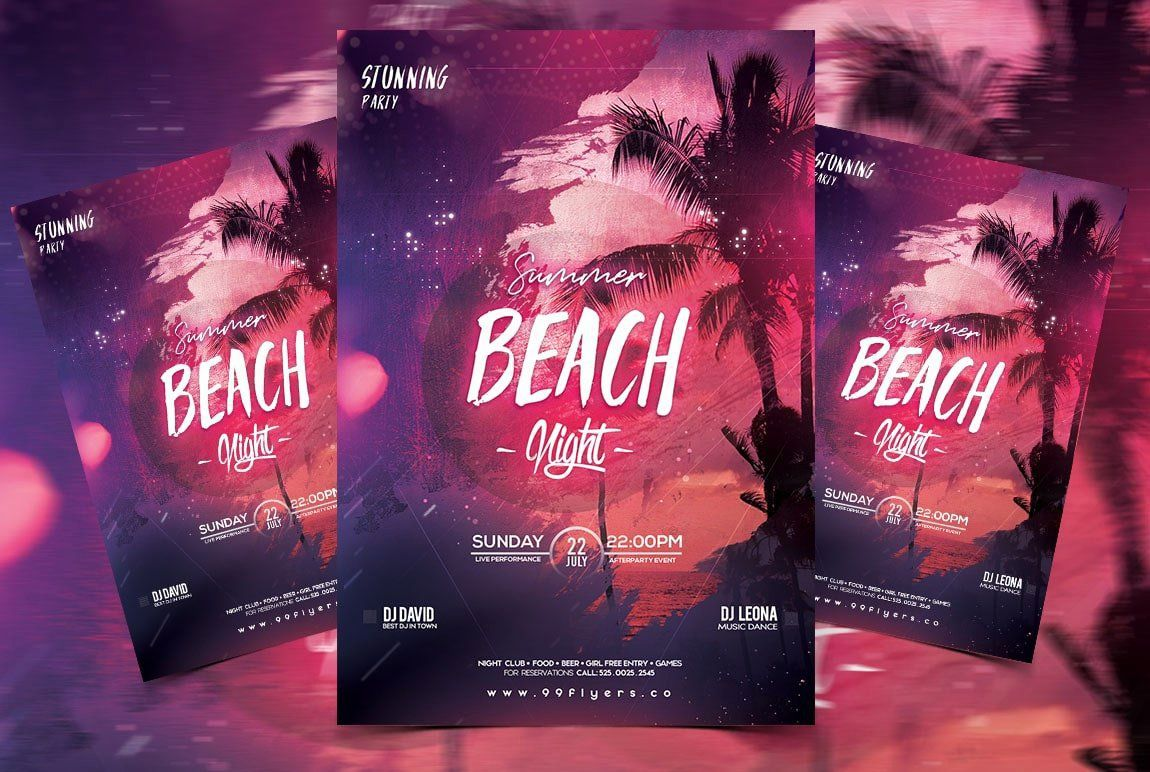 005 Sensational Free Party Flyer Template For Mac Concept Full