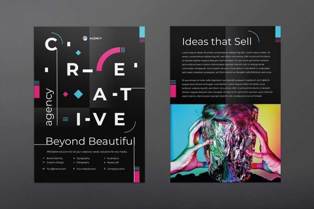 005 Sensational Free Print Ad Template Concept  Templates Real Estate For WordLarge