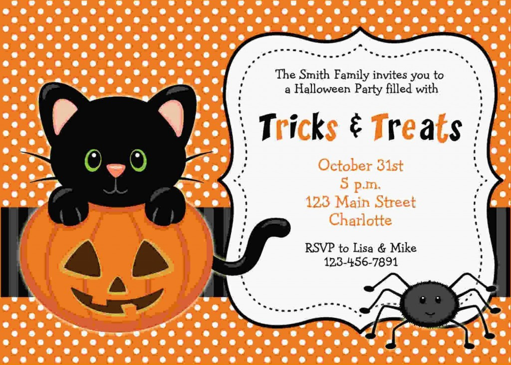 005 Sensational Halloween Party Invite Template Idea  Templates - Free Printable Spooky Invitation BirthdayLarge