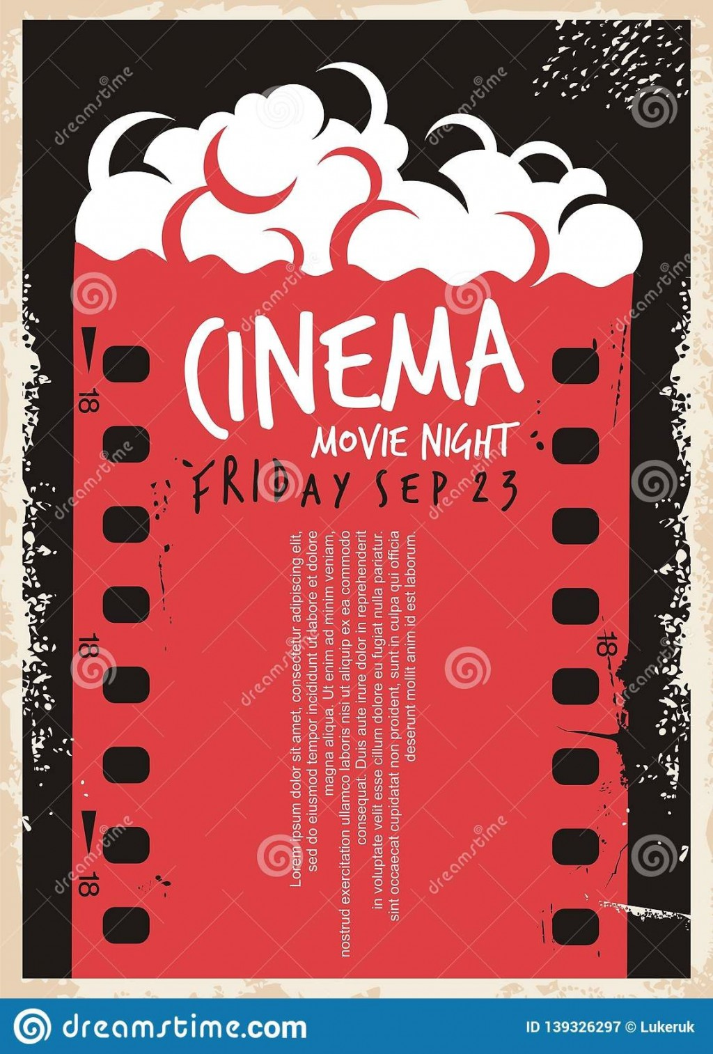 005 Sensational Movie Night Flyer Template Inspiration  Editable Psd FreeLarge