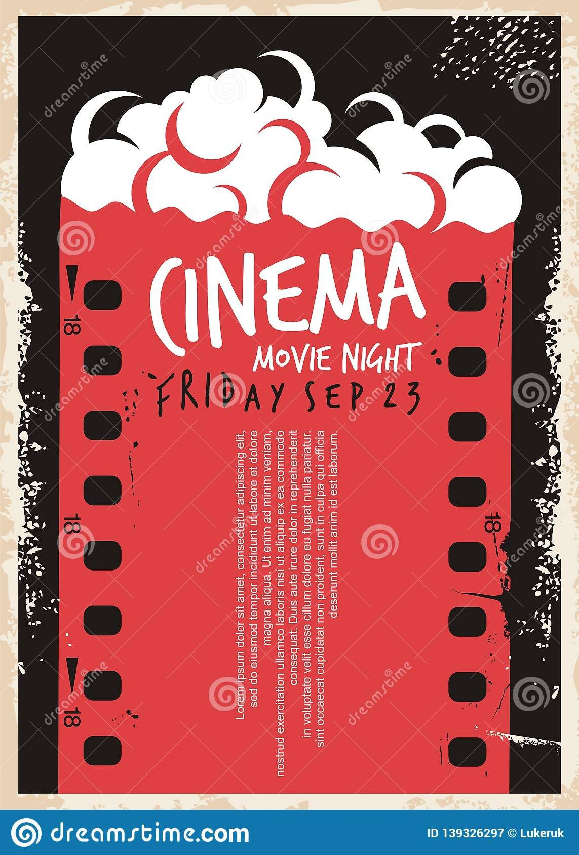 005 Sensational Movie Night Flyer Template Inspiration  Editable Psd FreeFull