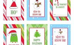 005 Sensational Printable Christma Gift Tag Template Concept  Templates Free Holiday For Word