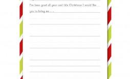 005 Sensational Printable Wish List Template Sample  Cute Christma Free Holiday