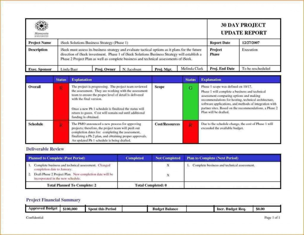 005 Sensational Project Management Report Template Free Example  Weekly StatuLarge