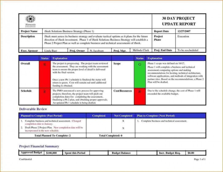 005 Sensational Project Management Report Template Free Example  Word Weekly Statu Excel728