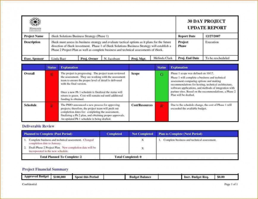 005 Sensational Project Management Report Template Free Example  Statu Excel Weekly