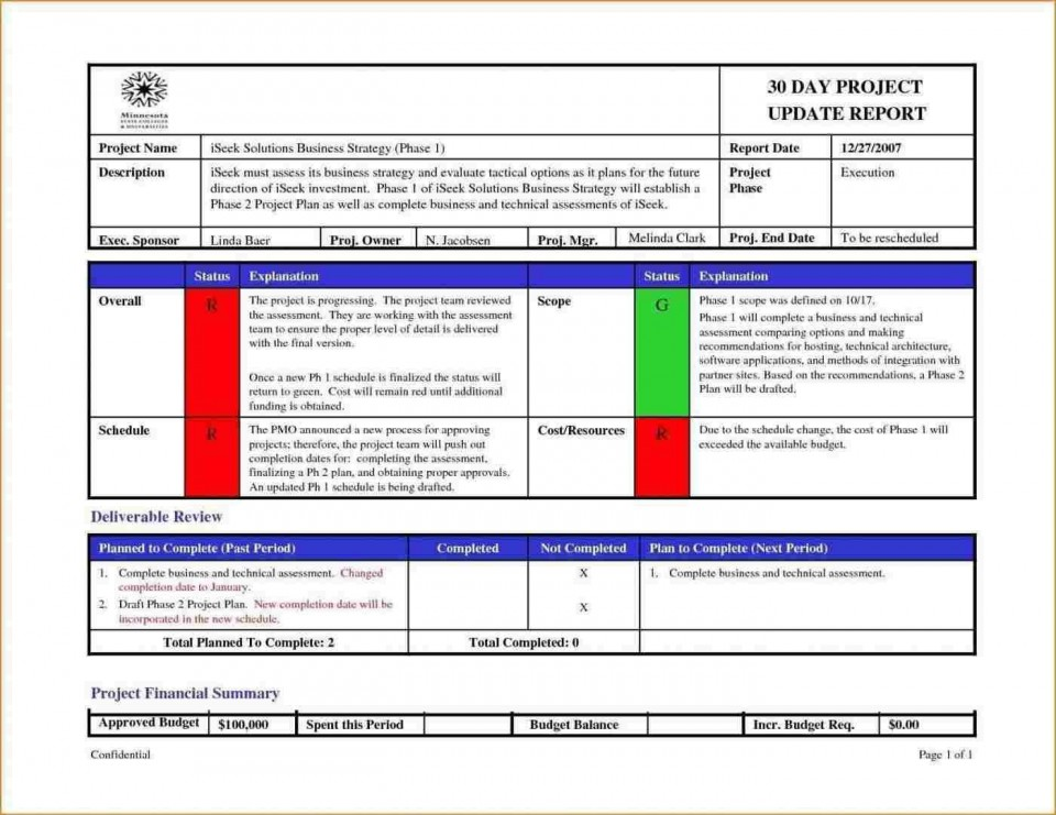 005 Sensational Project Management Report Template Free Example  Word Weekly Statu Excel960
