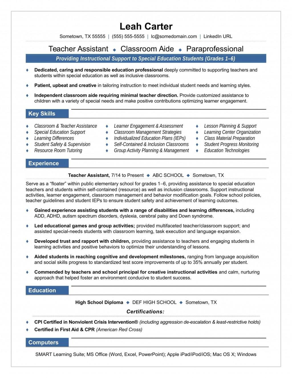 005 Sensational Resume Template For Teaching Job Highest Clarity  Sample Cv In India Format Example TeacherLarge