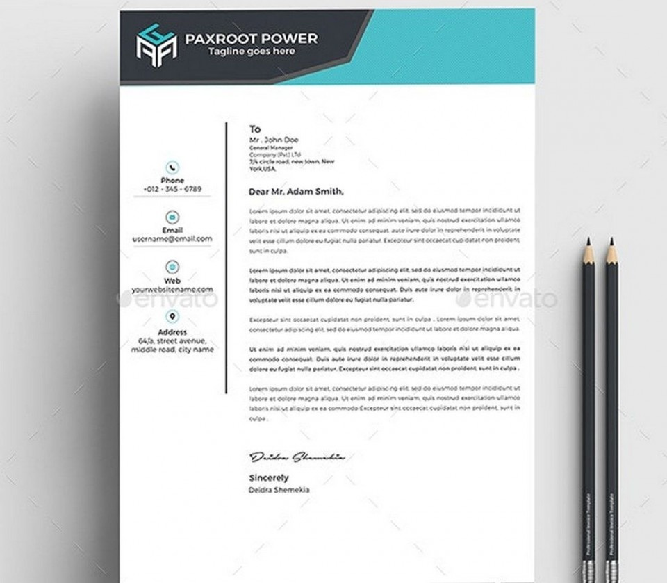 005 Sensational Simple Letterhead Format In Word Free Download Highest Clarity 960