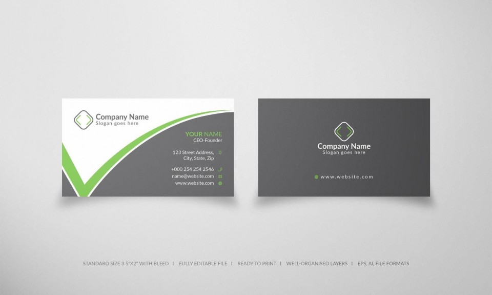 005 Sensational Simple Visiting Card Design Free Download Sample  Busines Psd File960