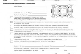 005 Sensational Template Car Rental Form Example  Free Agreement Checklist Inspection