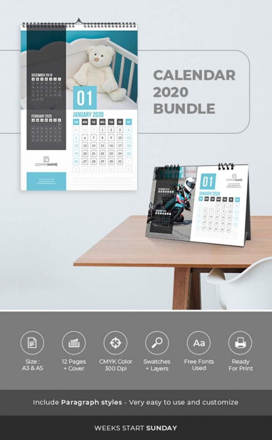 005 Shocking 2020 Calendar Template Indesign High Def  Adobe Free
