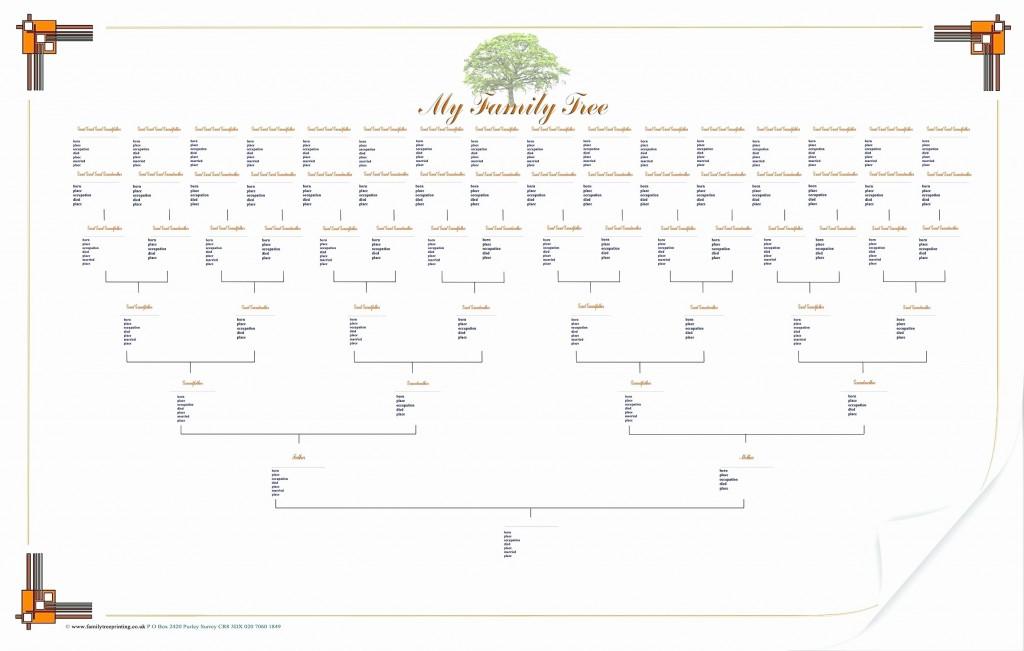 005 Shocking 7 Generation Family Tree Template Inspiration  Blank Free EditableLarge