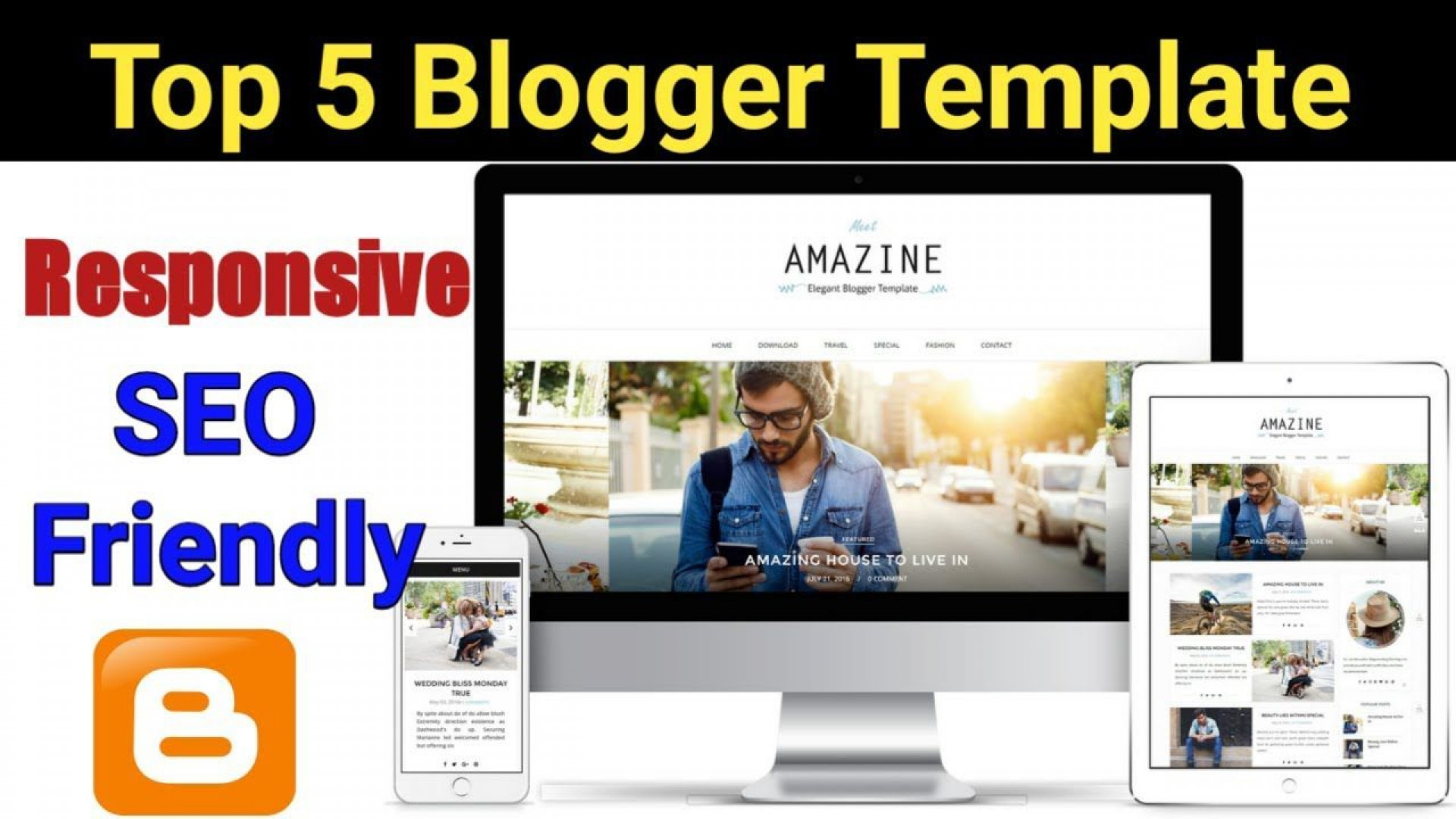 005 Shocking Best Free Responsive Blogger Template Design  Templates Mobile Friendly Top 20191920