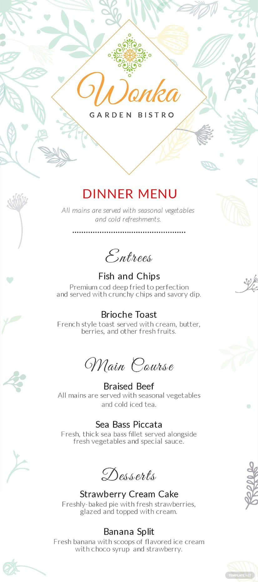005 Shocking Dinner Party Menu Template High Def  Card Free Italian WordFull