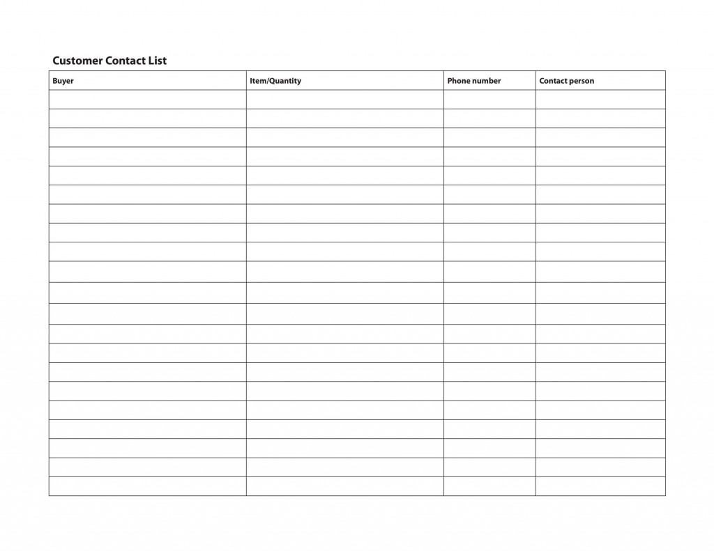 005 Shocking Excel Contact List Format Concept  CustomerLarge