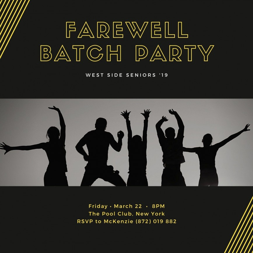 005 Shocking Farewell Party Invitation Template Free Concept  Word Printable Card