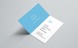 005 Shocking Folding Busines Card Template Image  Folded Photoshop Ai Free