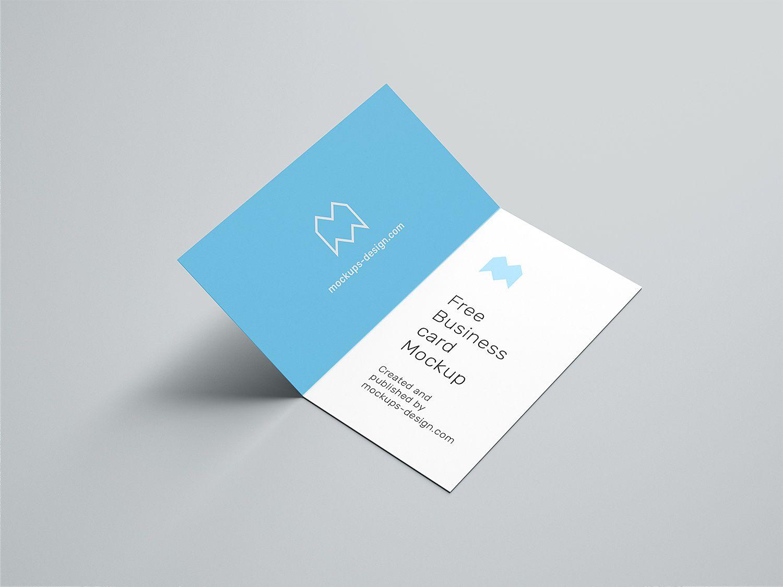 005 Shocking Folding Busines Card Template Image  Folded Photoshop Ai FreeFull