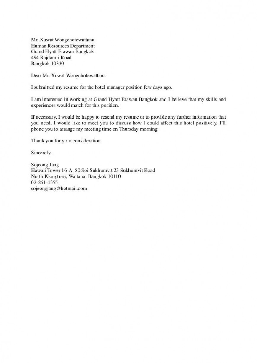 005 Shocking Follow Up Letter After Meeting Inspiration  With Bos Recruiter