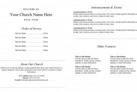 005 Shocking Free Editable Church Program Template Concept