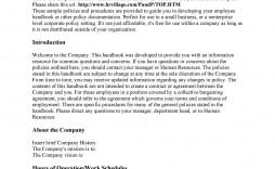 005 Shocking Free Employment Handbook Template Idea