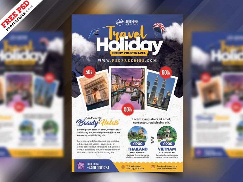 005 Shocking Free Travel Flyer Template Download Inspiration Large