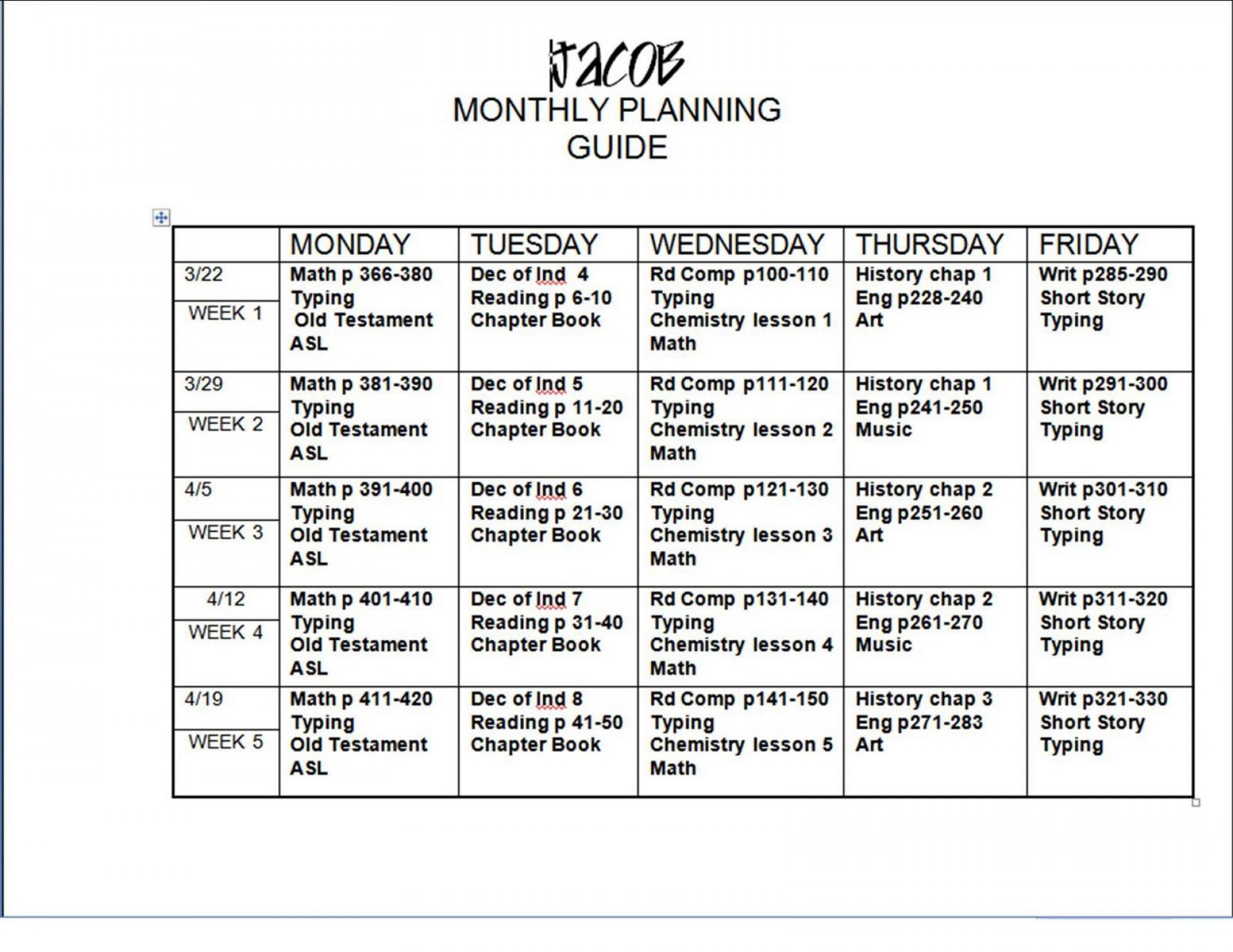 005 Shocking Free Weekly Lesson Plan Template Google Doc Design 1920