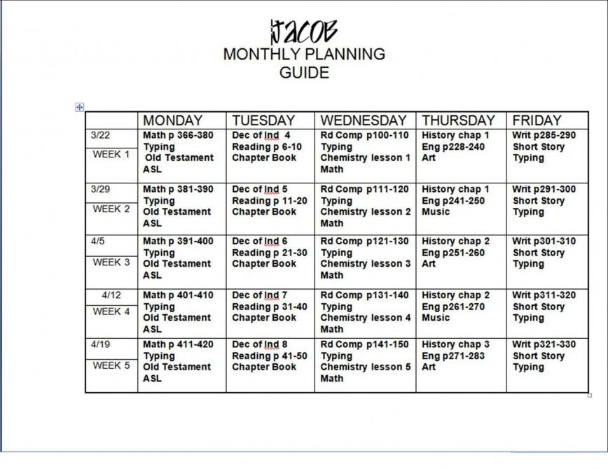 005 Shocking Free Weekly Lesson Plan Template Google Doc Design 868