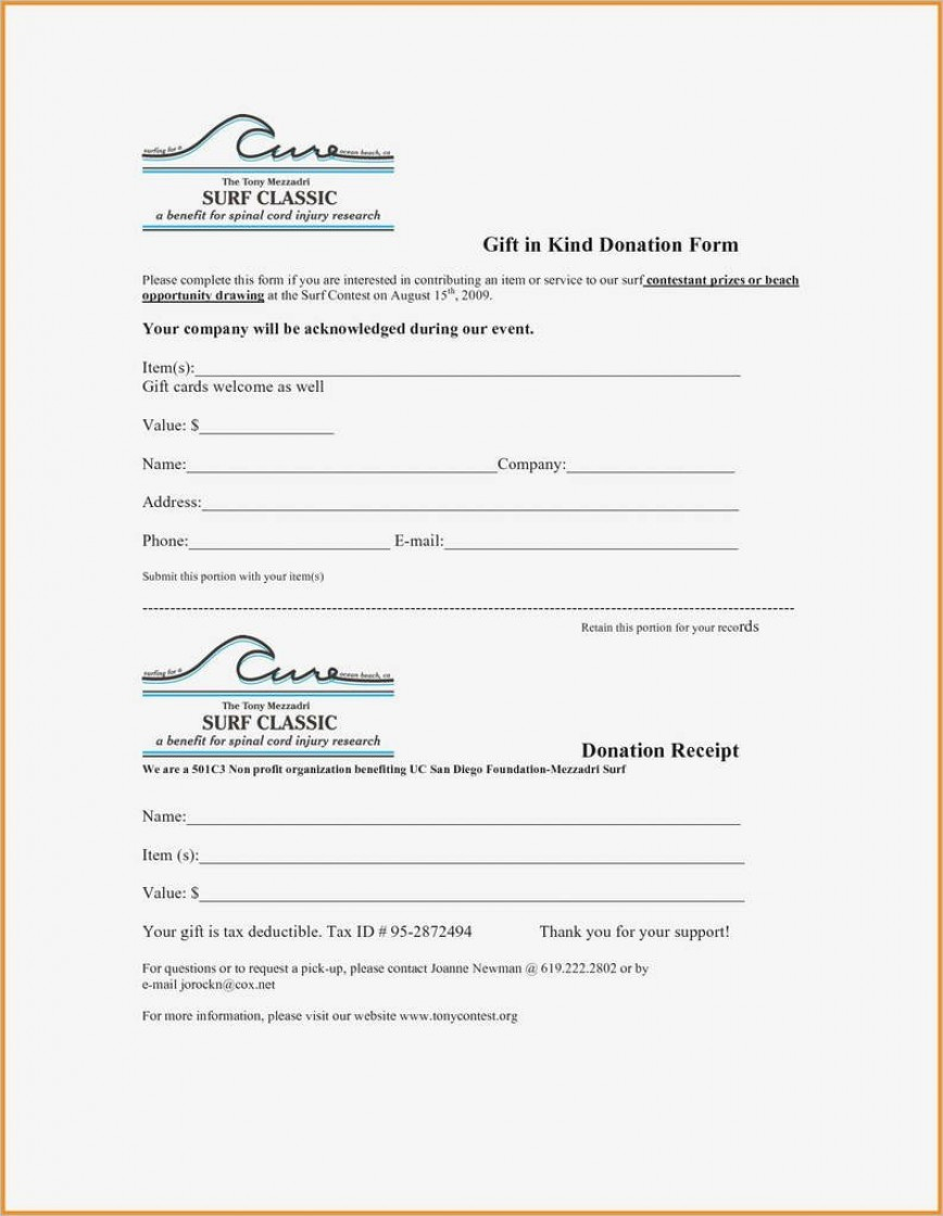 Free Donation Receipt Template from www.addictionary.org