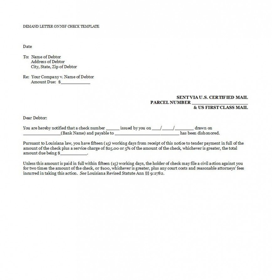 005 Shocking Payment Demand Letter Template Free High Resolution  Final For