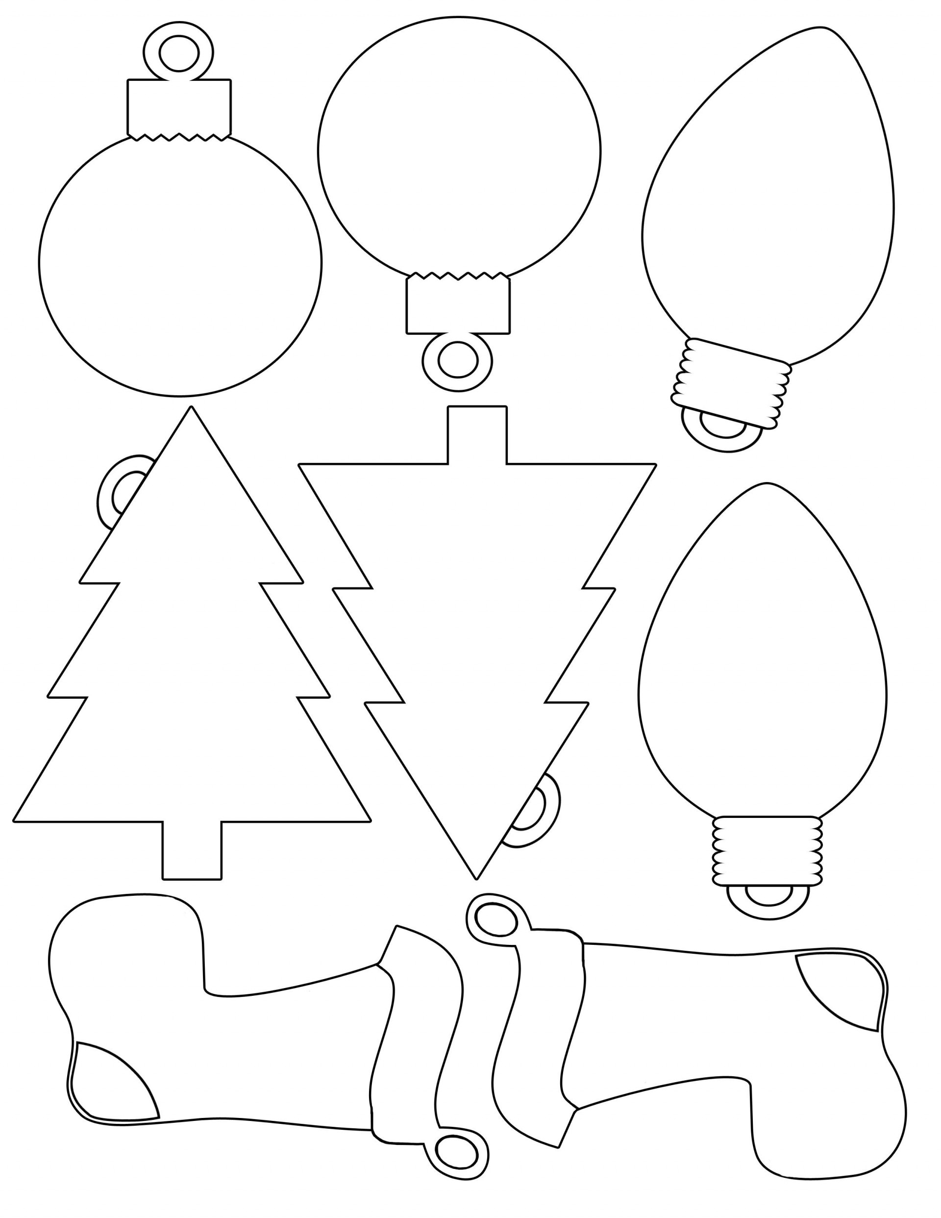 005 Shocking Printable Christma Ornament Template Picture  Templates Stencil Felt Pattern Tree1920
